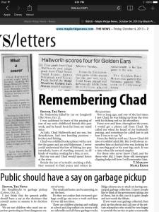 Remembering Chad